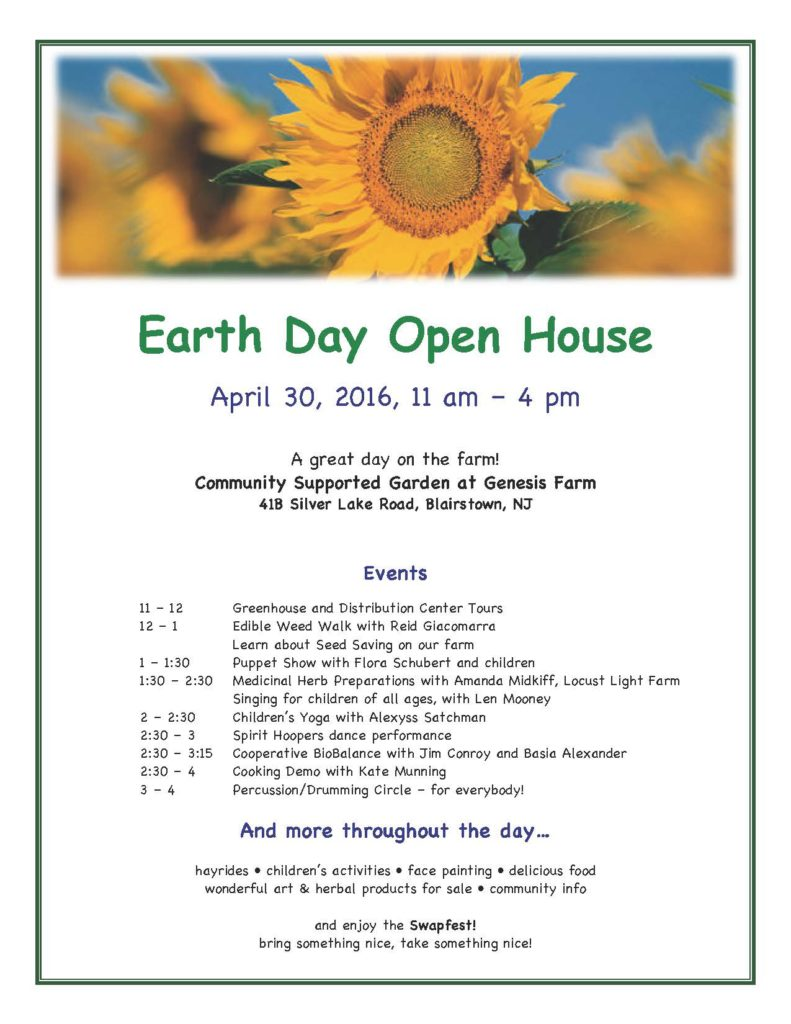 Earth Day Open House April 30 2016(3)