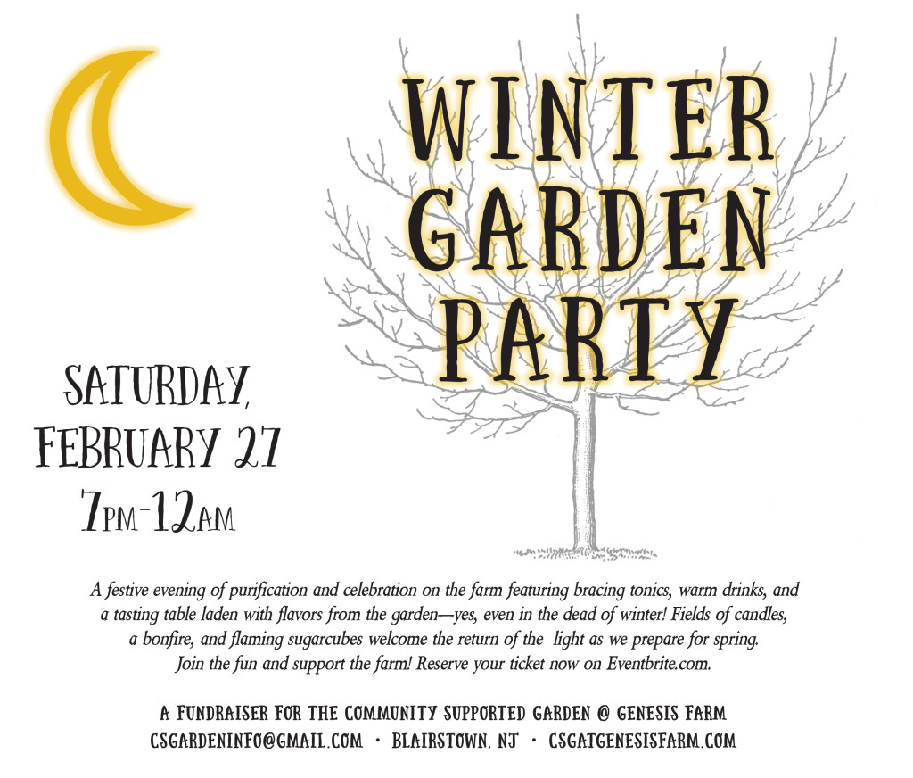 winter garden party invite