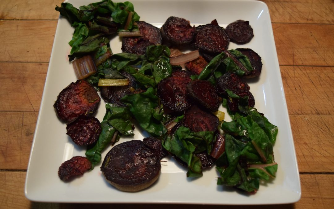 Honey Roasted Beets with Greens