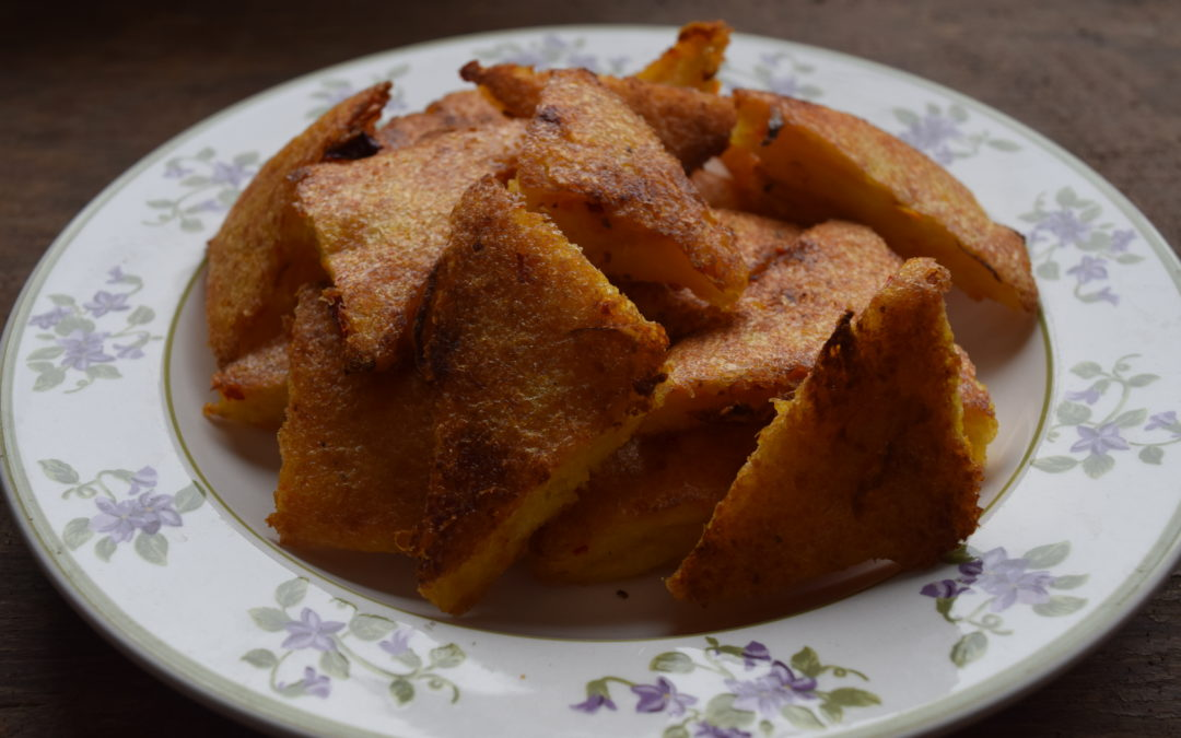 Spiced Carrot Polenta Toasts